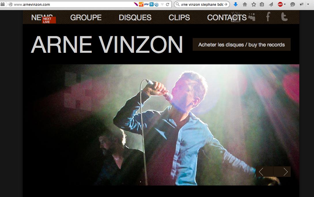 Site de Arne Vinzon