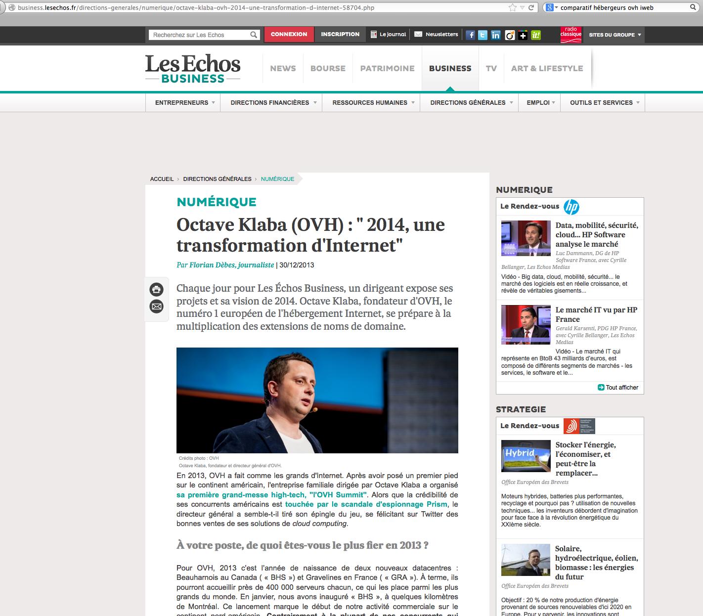 Les Échos Business 2013